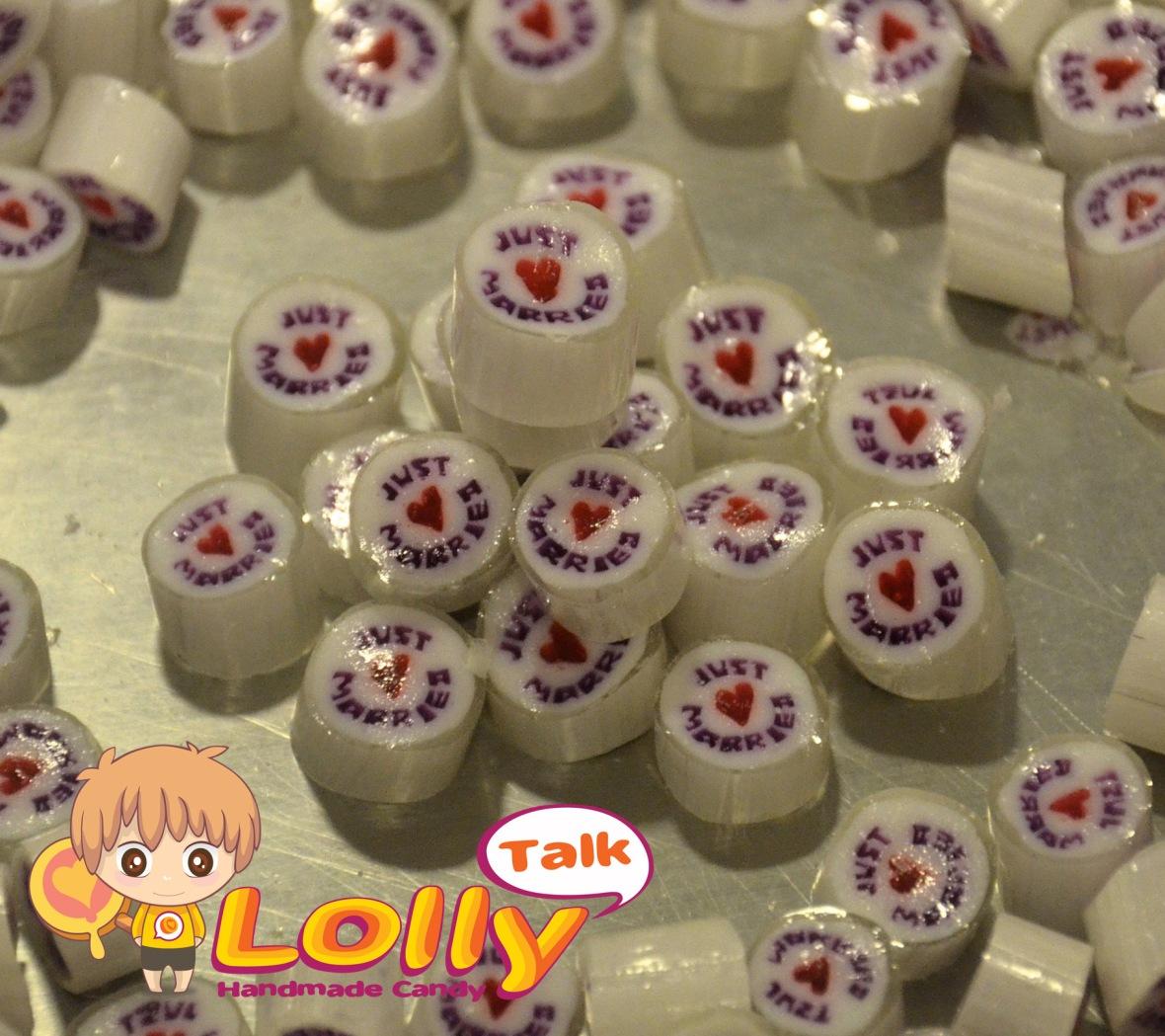 LollyTalk's customised wedding candy