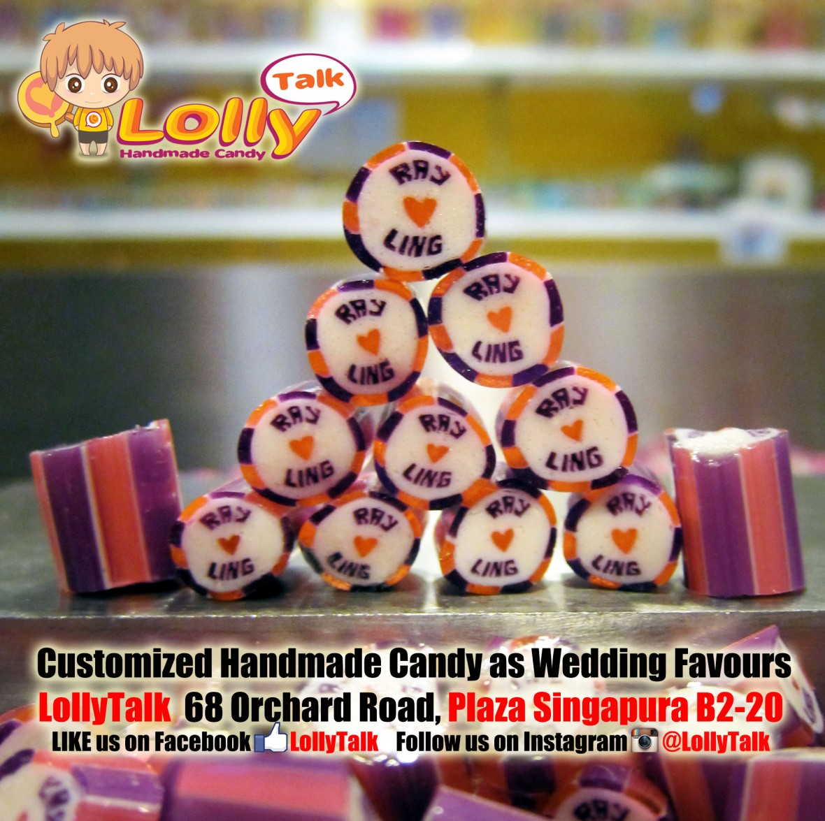 Customized Wedding Candy as wedding favors