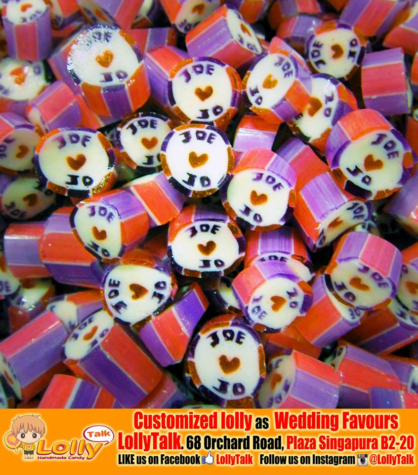 Customized Wedding Candy with names of the couple... by LollyTalk
