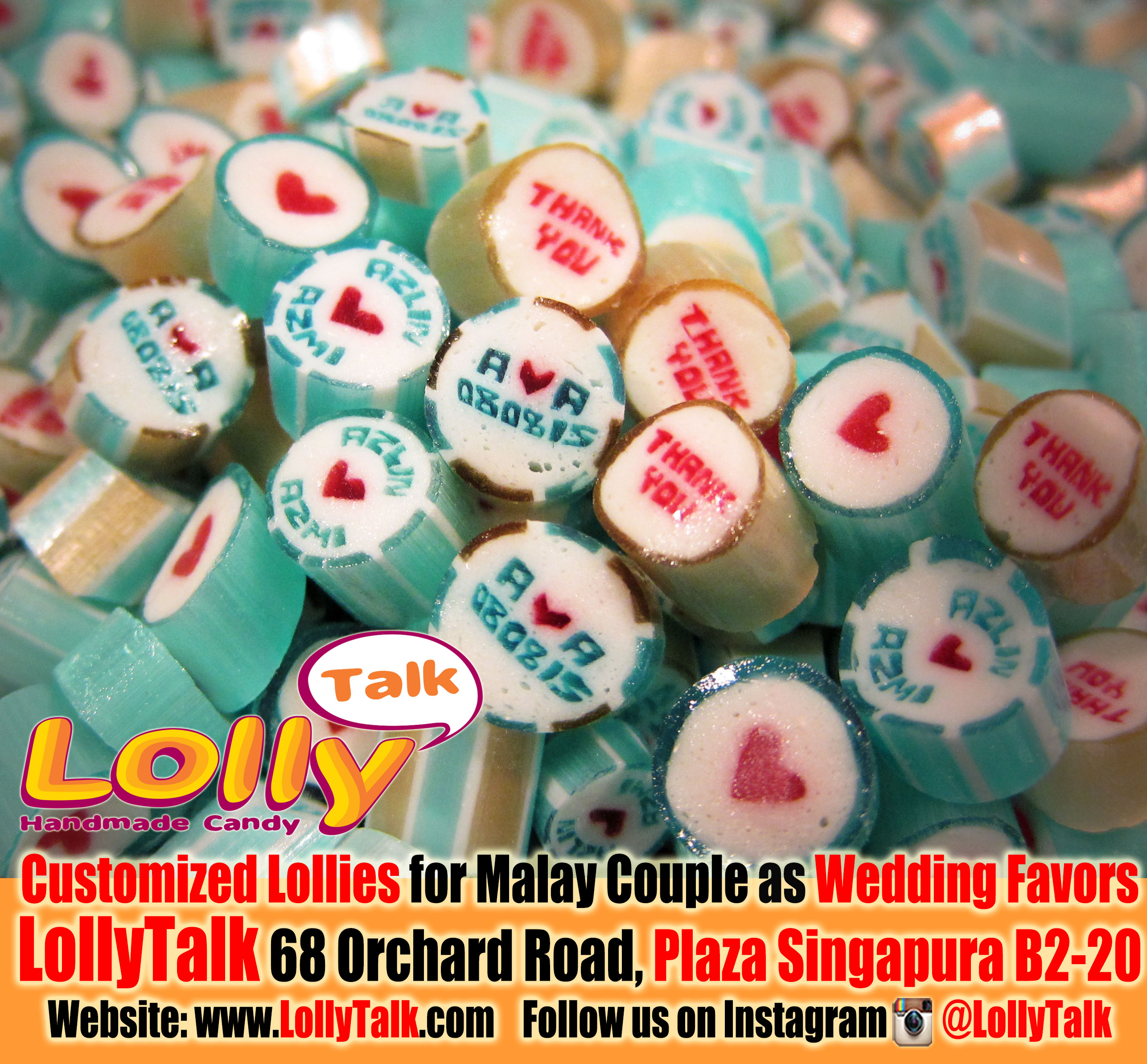 Wedding Candy By Lollytalk Customized Handmade Candy As Wedding Favors
